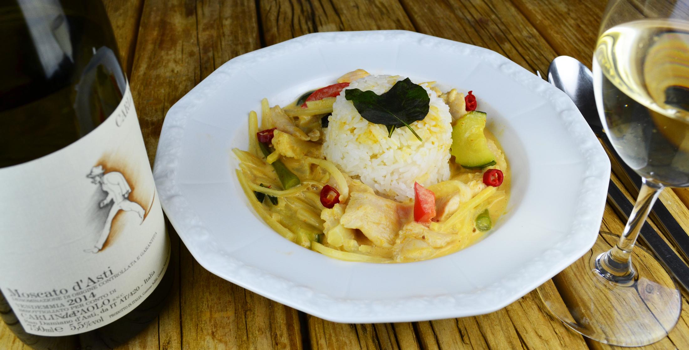 Moscato und Thaicurry